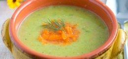 Crema de calabacín y verduras
